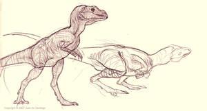 Baby T-Rex sketches