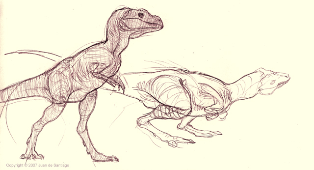 Baby T-Rex sketches by Red-Dilopho