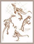 Dinosaur Ink Sketches