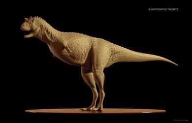 Carnotaurus Sastrei 3D Model by Red-Dilopho