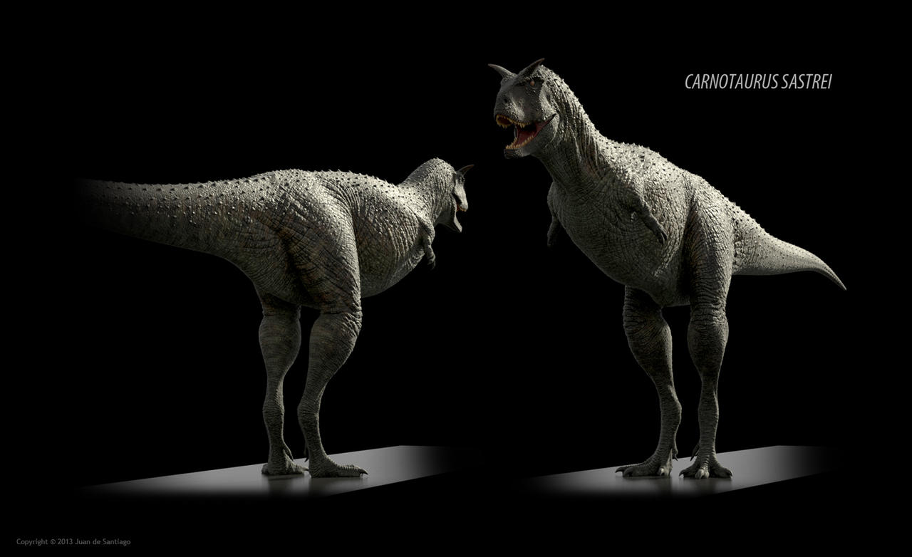 Carnotaurus sastrei (textured) by Red-Dilopho