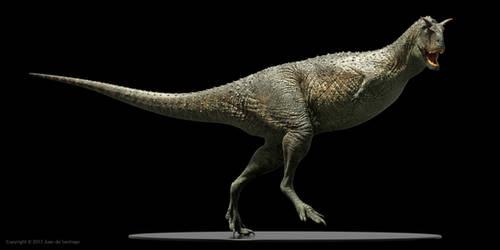 Carnotaurus sastrei 2 (textured) by Red-Dilopho