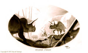 Triceratops Afternoon