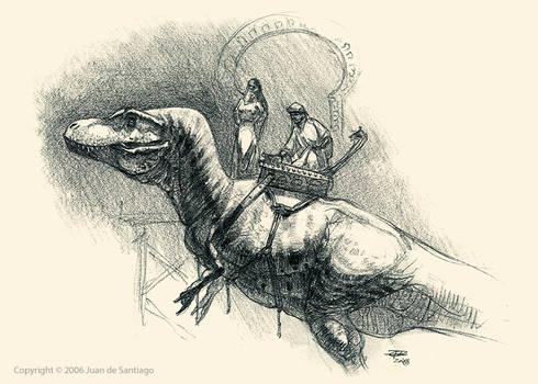 Arabian T-Rex Sketch