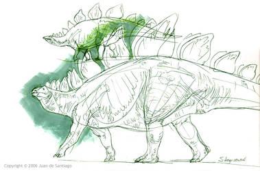 Stegosaur Lineart by Red-Dilopho