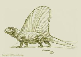 Dimetrodon Sketch by Red-Dilopho