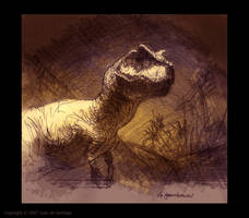 Giganotosaurus Sketch by Red-Dilopho