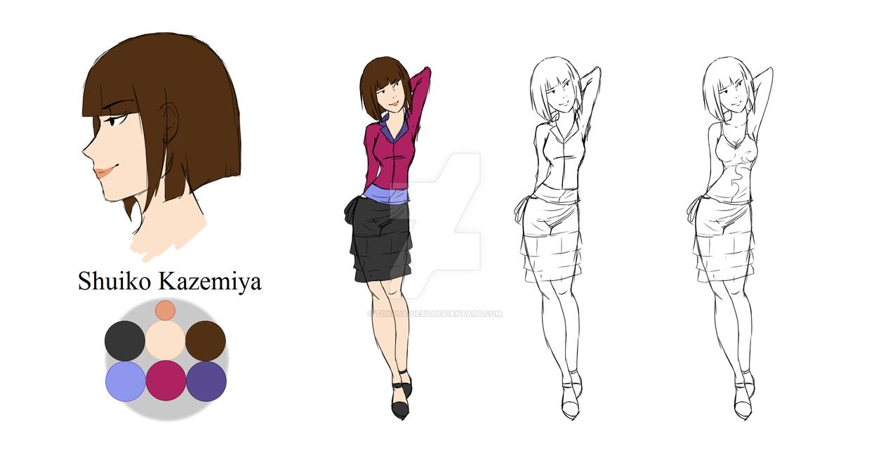 Shuiko Kazemiya - Character Sheet #10 by Tokusa-desu