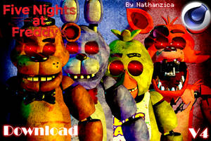 Five Nights at Freddy's pack v4 by nathanzica by NathanzicaOficial