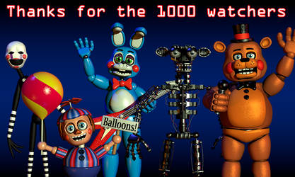 Thanks for the 1000 watchers by NathanzicaOficial