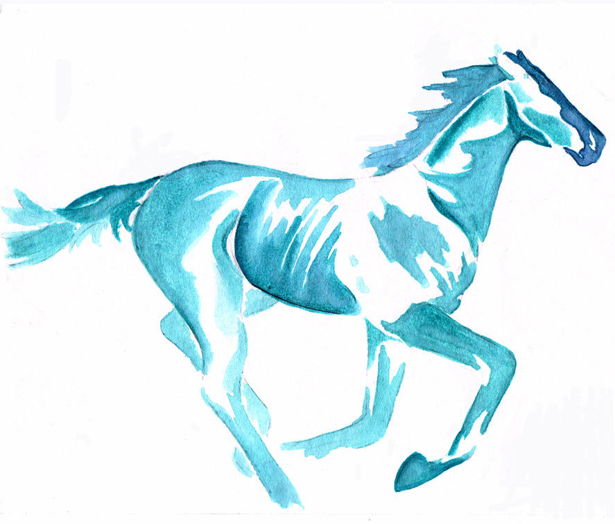 Watercolor Horse by morganmonahan on DeviantArt