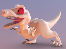 Andy The Velociraptor by SpyroCheongHachiku