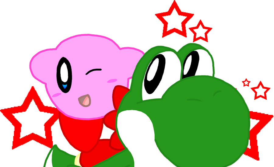 Kirby and Yoshi by Nintooner on DeviantArt