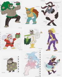 Humanisations of my Pokemon Sword Team