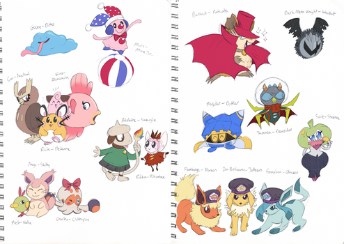More Kirby Characters as Pokemon