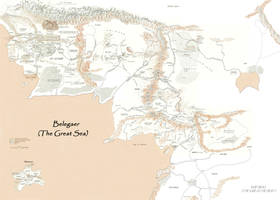 Merged map of Middle Earth by Enerdhil-of-Gondolin