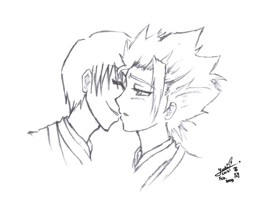 Jus' a kiss, na? by chibiyuki-kun