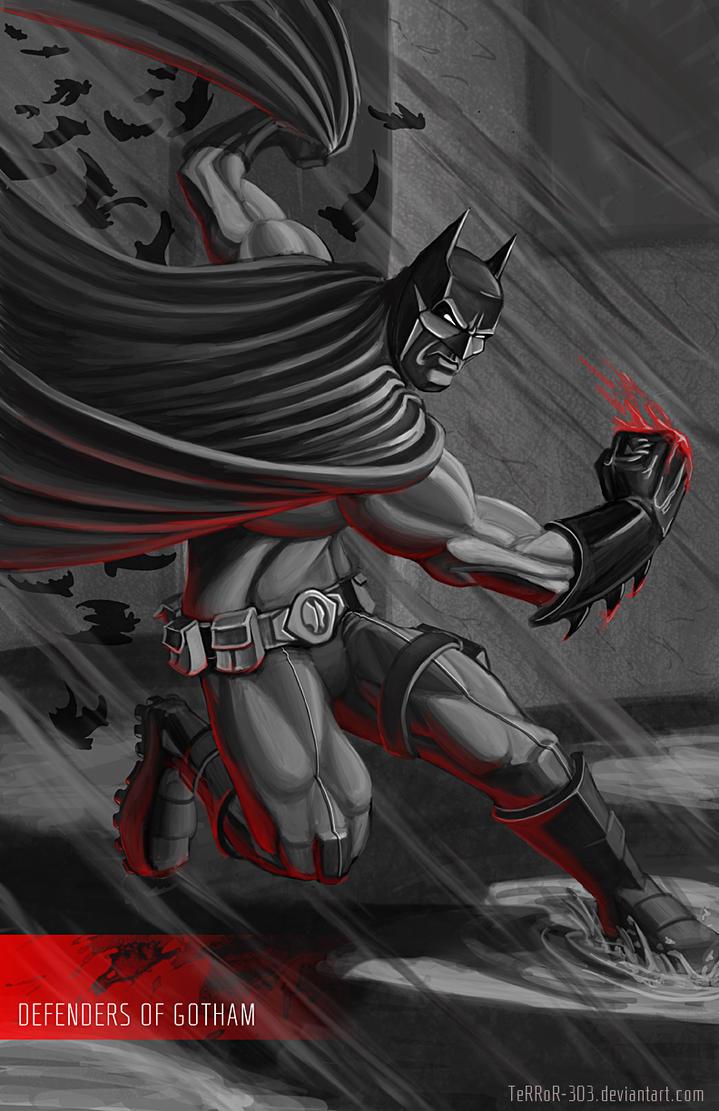 Batman Red by AJNazzaro