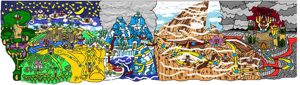 My Super Mario World Map old by RLTW N64 3D on DeviantArt