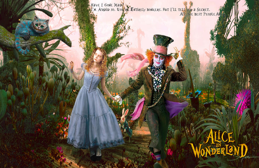 alice and the mad hatter quotes alice