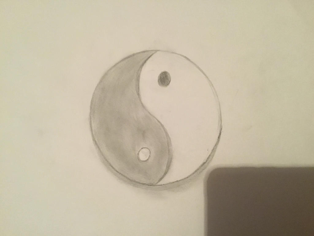 Yin Yang on Paper by iBogdanArtist