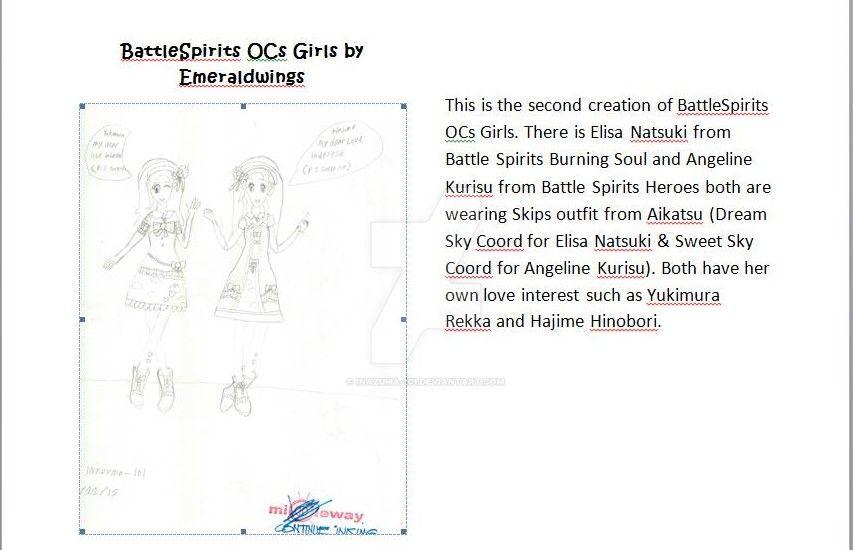 BattleSpirits OCs by Emeraldwings 02 by Inazuma-101