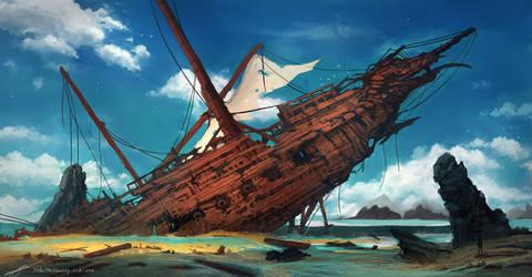 Shipwreck by HideTheInsanity