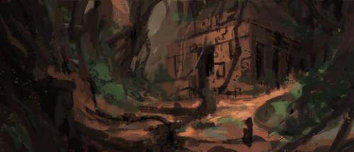 Muddy temple by HideTheInsanity