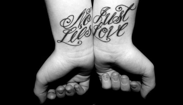 Tattoo No Lies, Just Love