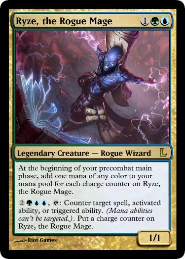 MtG - Ryze, the Rogue Mage by soy-monk