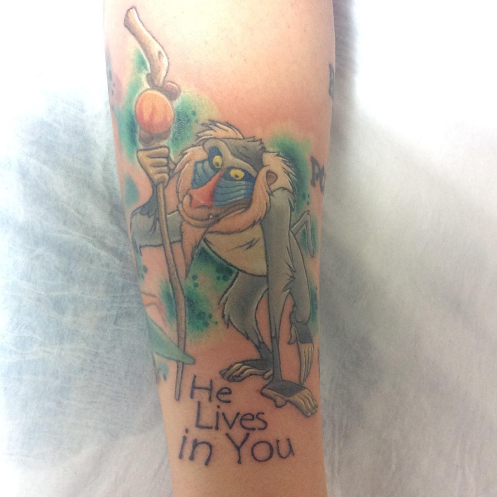 Rafiki from Lion King Tattoo by zuluDROOG on DeviantArt