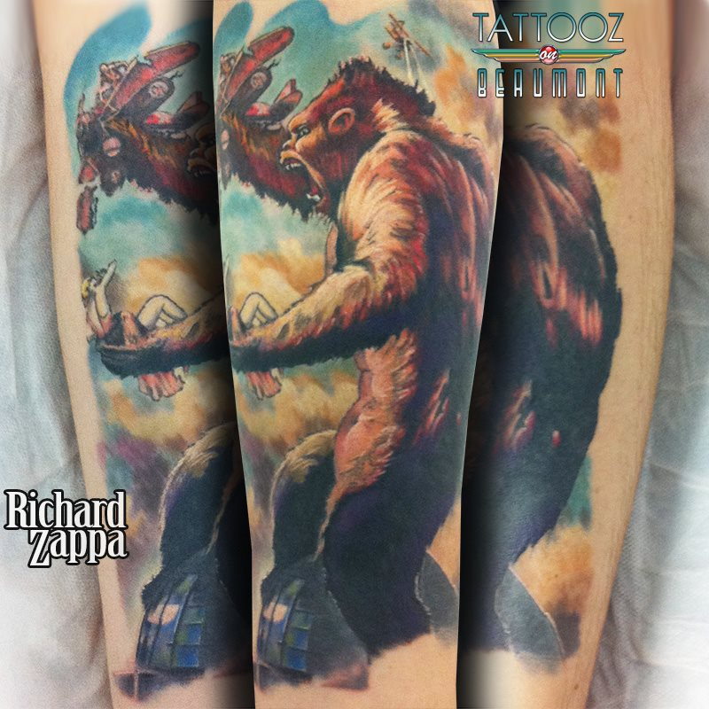 Traditional King Kong Tattoo 86127 Movieweb