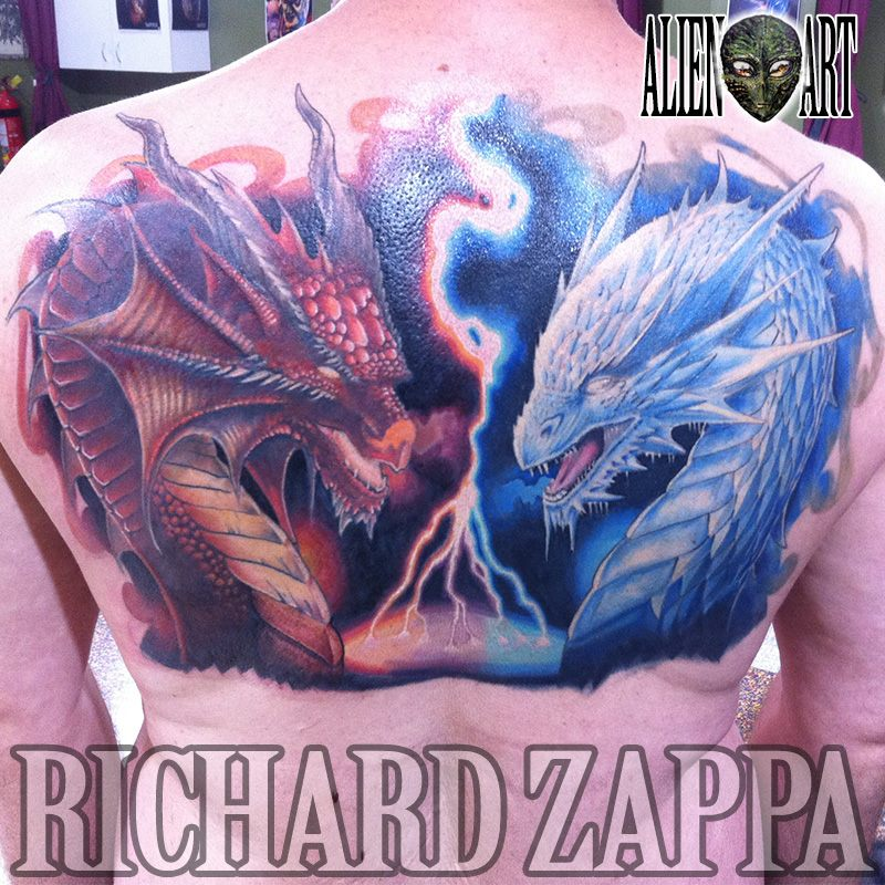 Fire and ice by zuludroog on deviantart for Fire and ice tattoo shop
