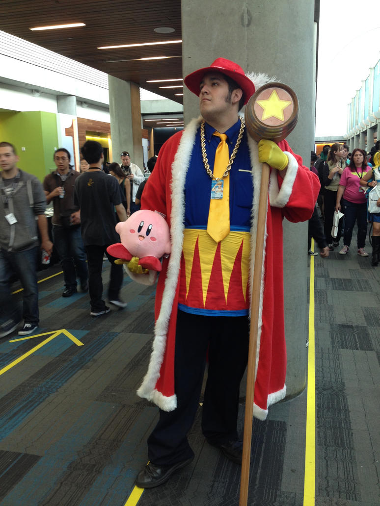 king_dedede_with_kirby_plush_cosplay_by_