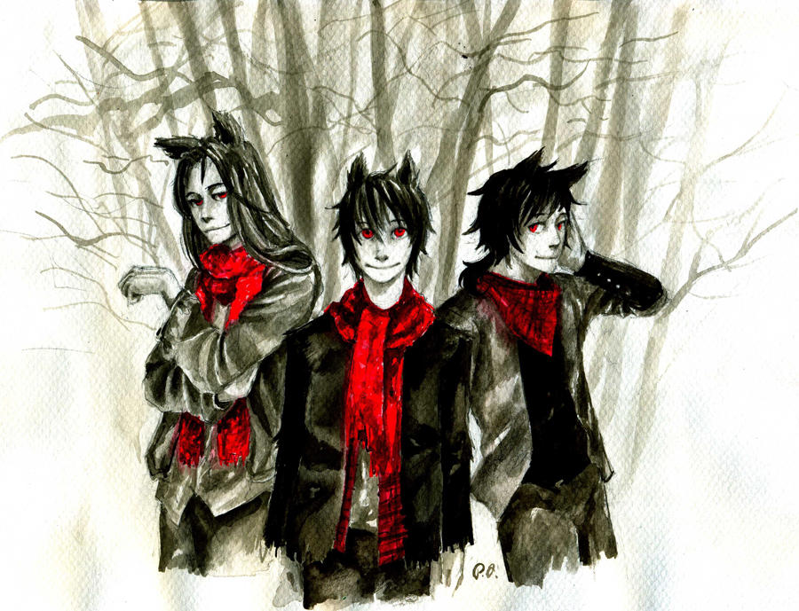 Three wolfs