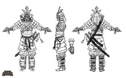 [VoZ] Savage Samurai Turnaround by Fireskye-Art