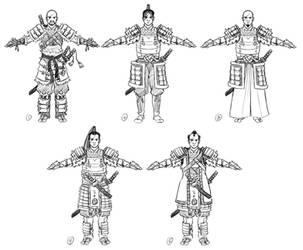 [VoZ] Savage Samurai Character Concepts by Fireskye-Art