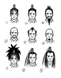 [VoZ] Savage Samurai Hair Concepts by Fireskye-Art