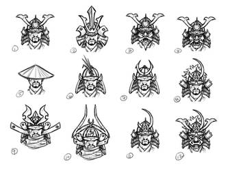 [VoZ] Savage Samurai Helmet Concepts by Fireskye-Art