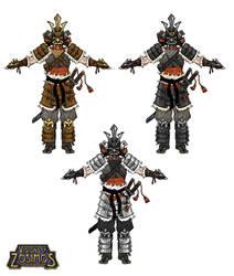 [VoZ] Savage Samurai Armor Colors by Fireskye-Art