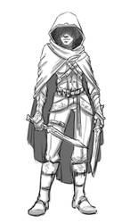 RPG Elf Sketch by Fireskye-Art