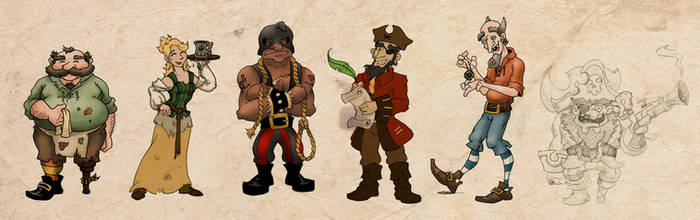 [Raided Yarr!] - Assorted Character Concepts by Fireskye-Art