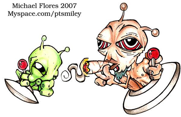 Alien Stoner By GlowingGnome