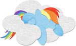 Canvas Paper Rainbow Dash by Saw-Buck