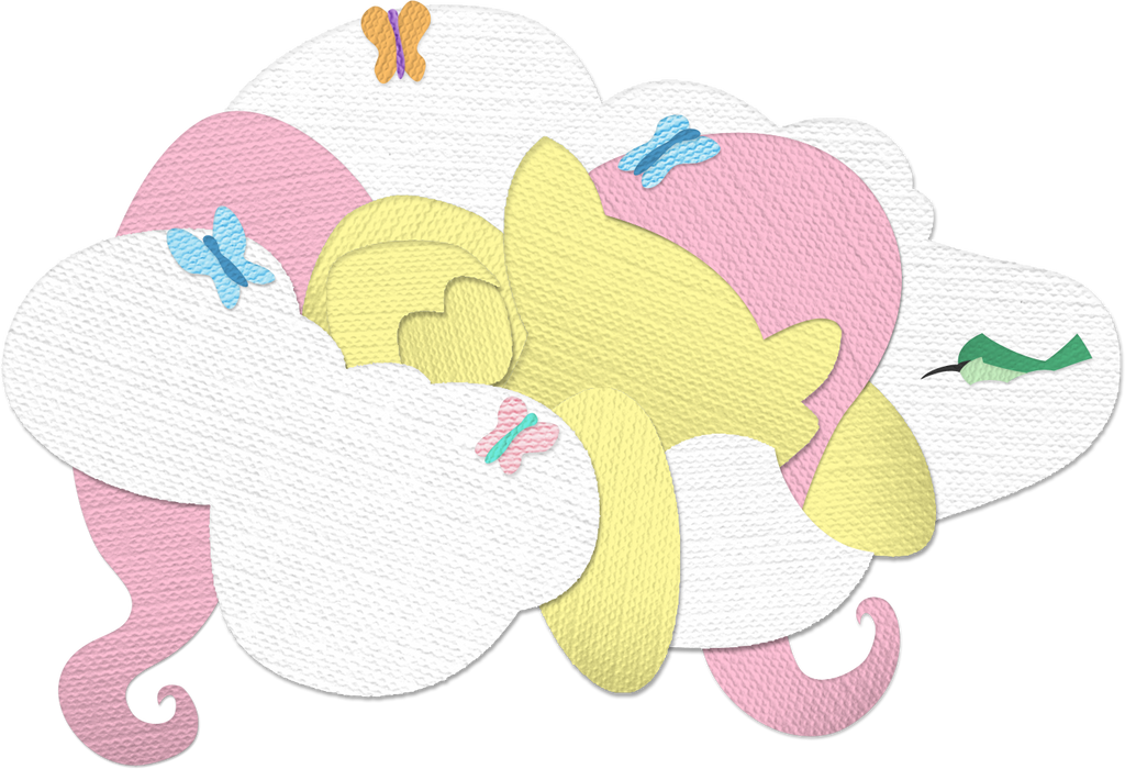 Canvas Paper Fluttershy - v2.0 by Saw-Buck