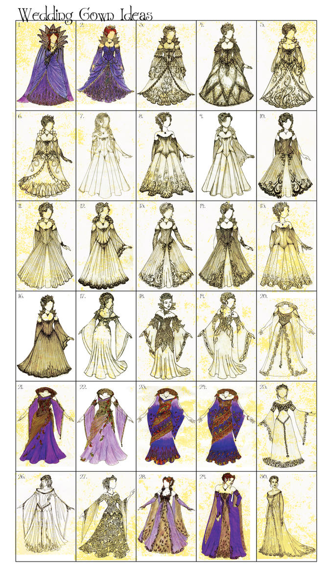 Wedding Gown Idea Dump by BelovedUnderwing