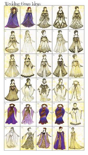 Wedding Gown Idea Dump