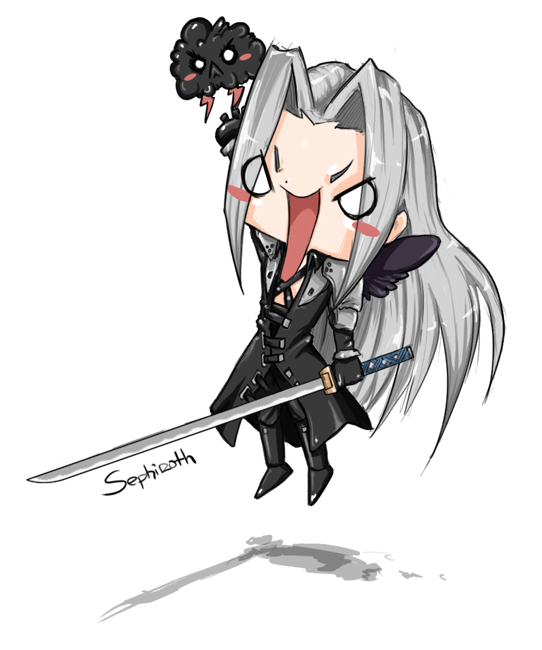 Serious Chibi Sephy by Komi-xi