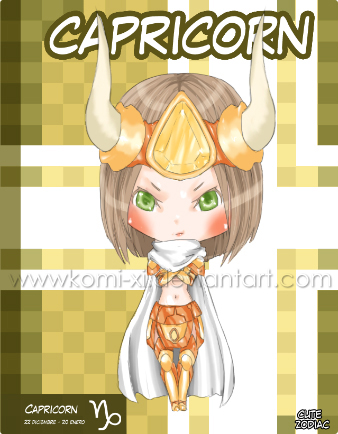 Chibi Zodiac girls - Capricorn by Komi-xi