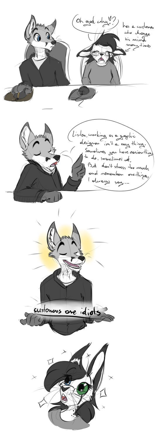 Customers Are Idiots by Kitka
